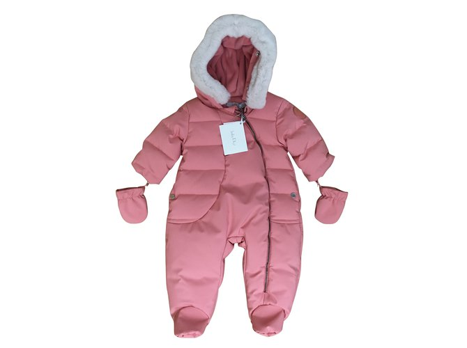 Combinaison fille Baby Dior Combinaison hiver babydior 3 mois Synthétique,Toile Rose ref.100436