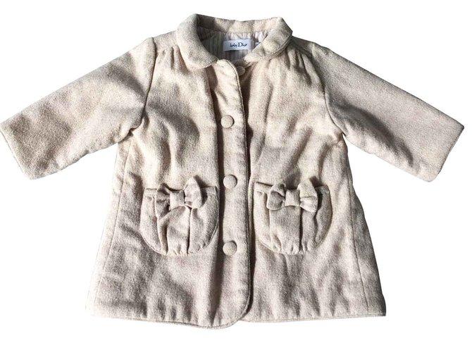 Blousons, manteaux filles Baby Dior Manteaux fille Polyester Beige ref.100534