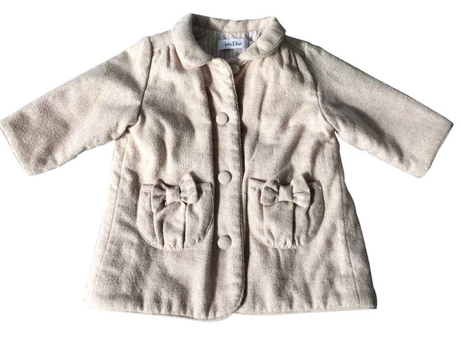 Baby Dior Girl Coats outerwear Girl Coats outerwear Polyester Beige ref.100534
