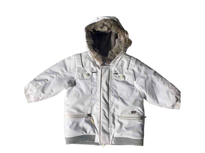 Blousons, manteaux garçon Baby Dior Manteaux de garçon Polyester Blanc ref.100536