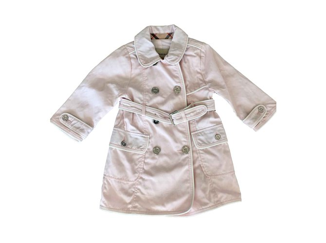 Burberry Girl Coats outerwear Girl Coats outerwear Cotton Pink ref.100537