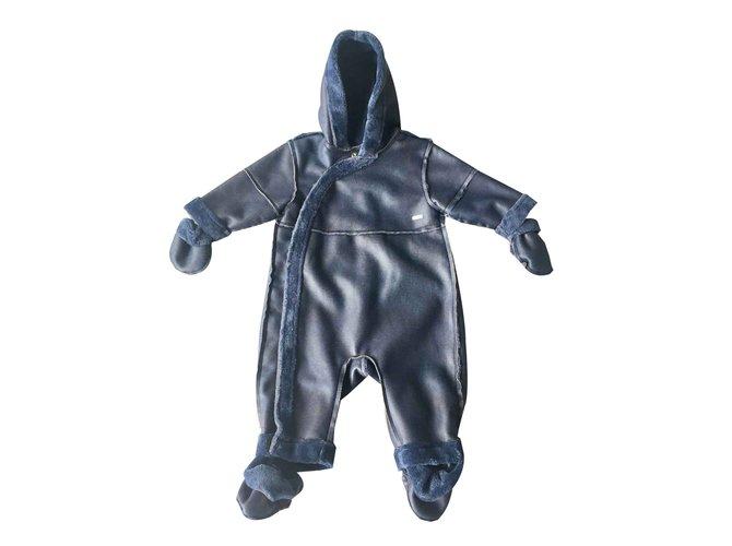 Baby Dior Boy Coats Outerwear Boy Coats Outerwear Polyester Blue ref.100538