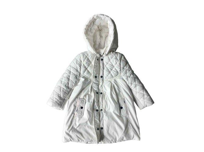 Blousons, manteaux filles Burberry Manteaux fille Polyester Blanc ref.100539