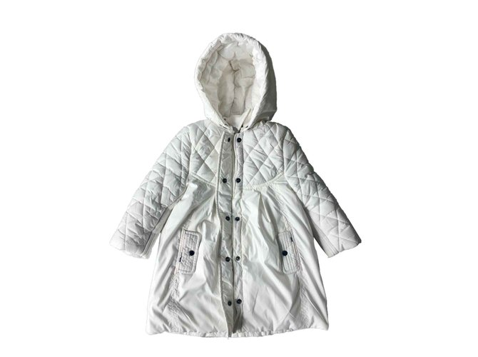 Burberry Girl Coats outerwear Girl Coats outerwear Polyester White ref.100539