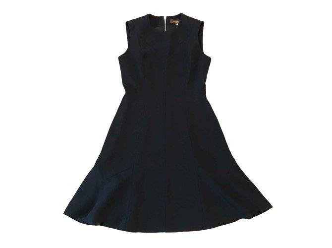 Robes Louis Vuitton Taille de robe Louis Vuitton 36 fr Polyester Bleu foncé ref.100607