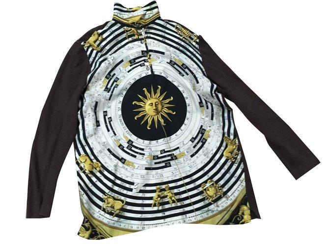 Pulls, Gilets Hermès Tricots Soie,Laine Marron ref.100670