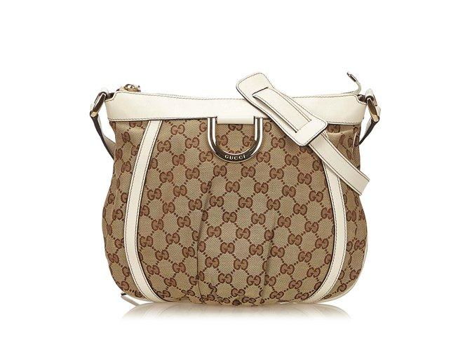 9487536cbbd Gucci Guccissima Jacquard D-Ring Crossbody Bag Handbags Leather ...