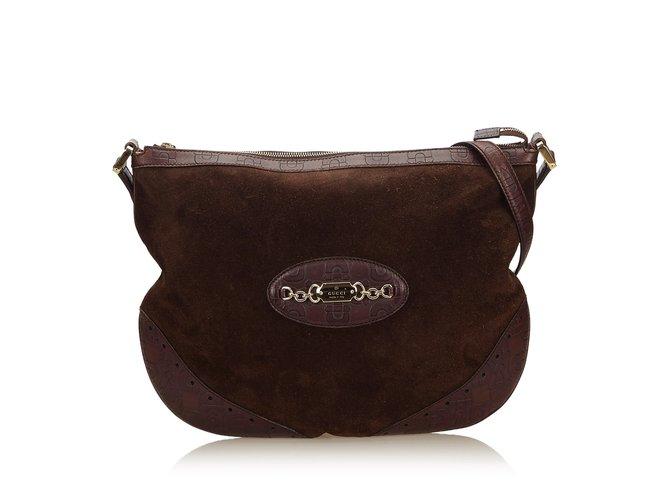 51034d98ca Gucci Suede Crossbody Bag Handbags Suede
