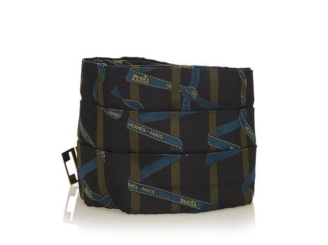 Hermès Wide Silk Belt Clutch bags Silk,Cloth Black,Multiple colors ref.100722