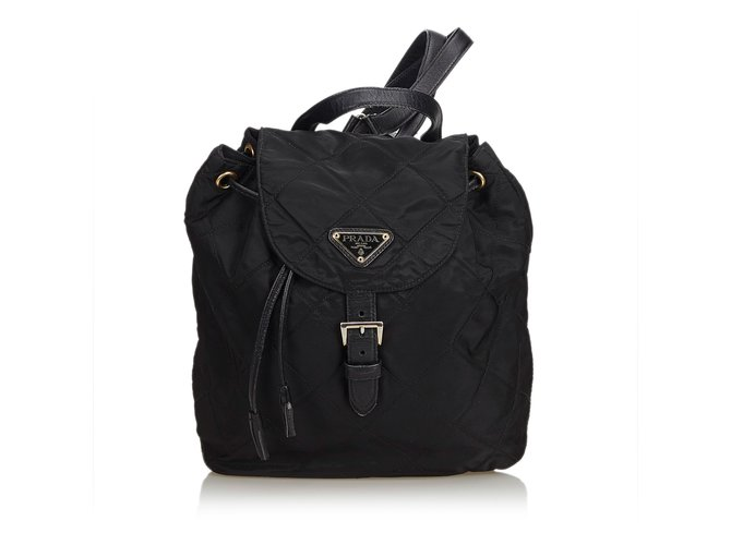 76ccf15389de Prada Quilted Nylon Backpack Backpacks Leather,Other,Nylon,Cloth Black  ref.100748