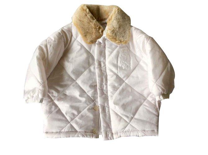 Blousons, manteaux filles Baby Dior Manteaux fille Polyester Blanc ref.100796