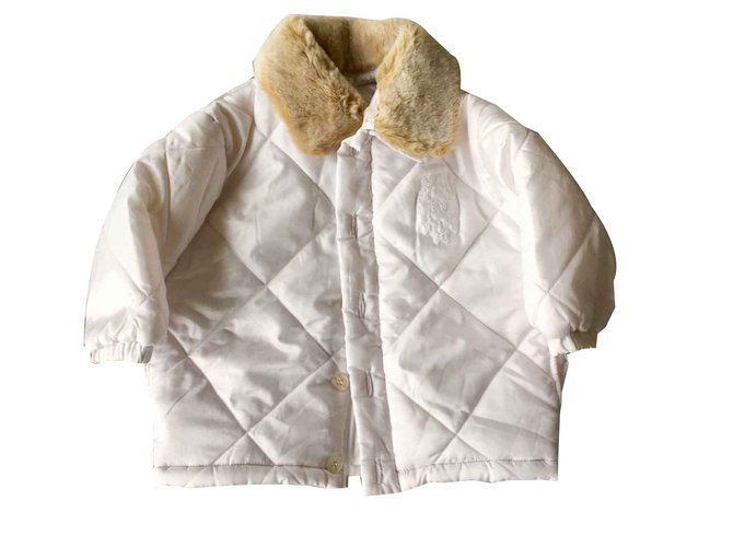 Baby Dior Girl Coats outerwear Girl Coats outerwear Polyester White ref.100796