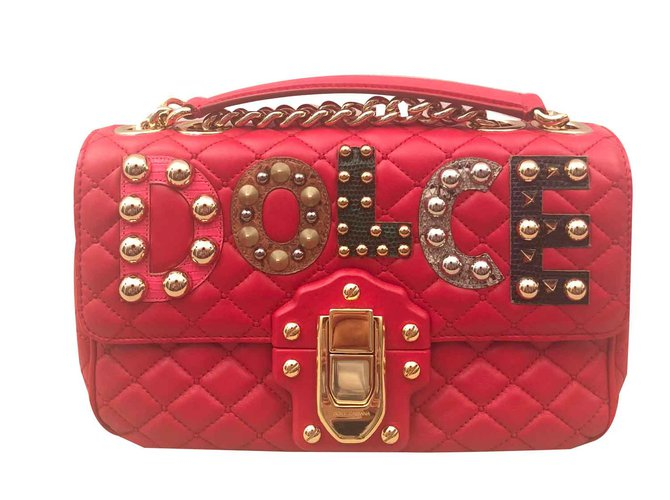 34482f22eb Dolce   Gabbana Dolce   Gabbana Lucia bag Handbags Leather Red ref.100839