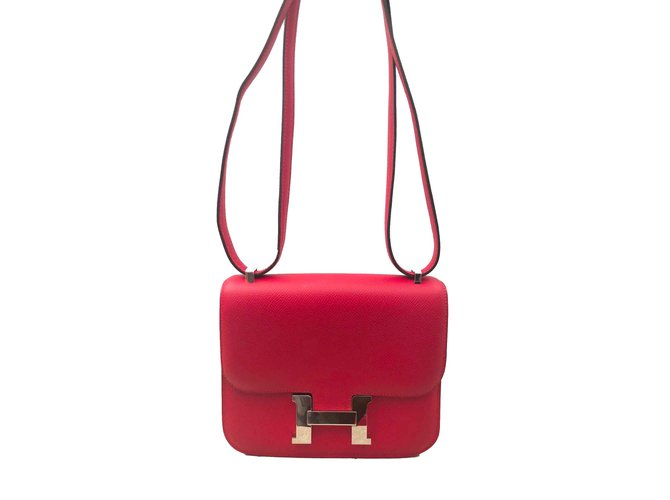 Sacs à main Hermès Sac Hermes Constance 18 Rouge Cuir Rouge ref.100847