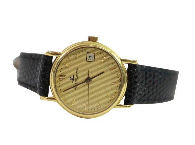 Montres Jaeger Lecoultre Vintage Or jaune Noir ref.100864