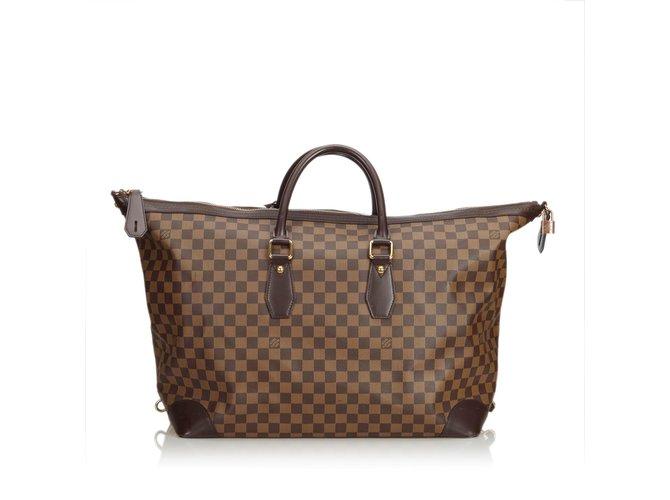 4359e06f1c6c Louis Vuitton Damier Ebene Vaslav Travel bag Leather