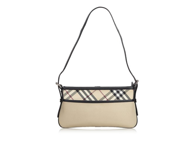 a7fbbe6dbf Burberry Plaid Nylon Shoulder Bag Handbags Leather,Other,Nylon,Cloth Brown, Black