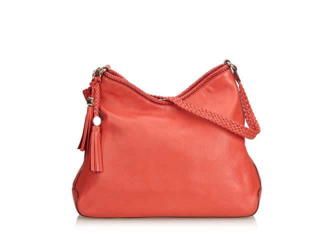 dcb4597dc6ea95 Gucci Leather Marrakech Shoulder Bag Handbags Leather,Other Red ref.100905