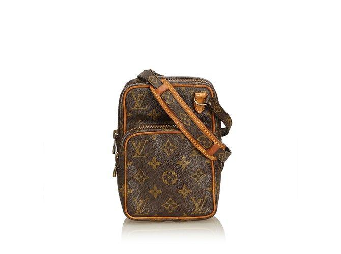 e8305097b Louis Vuitton Monogram Amazone Handbags Leather,Cloth Brown ref.100938