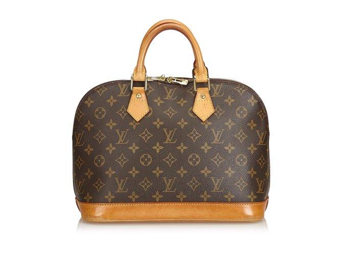 Sacs à main Louis Vuitton Monogramme Alma PM Cuir,Toile Marron ref.100946