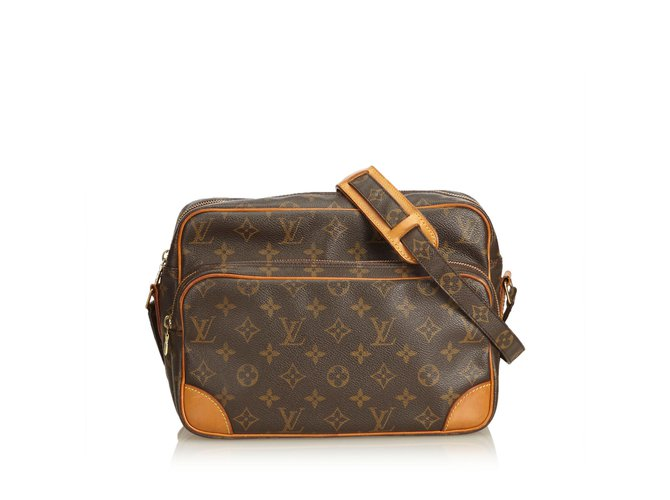 Sacs à main Louis Vuitton Monogramme Nil Cuir,Toile Marron ref.100950