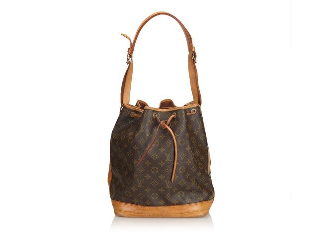 Sacs à main Louis Vuitton Monogramme noé Cuir,Toile Marron ref.100954