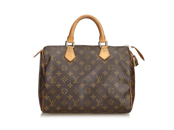 Sacs à main Louis Vuitton Monogramme rapide 30 Cuir,Toile Marron ref.100962