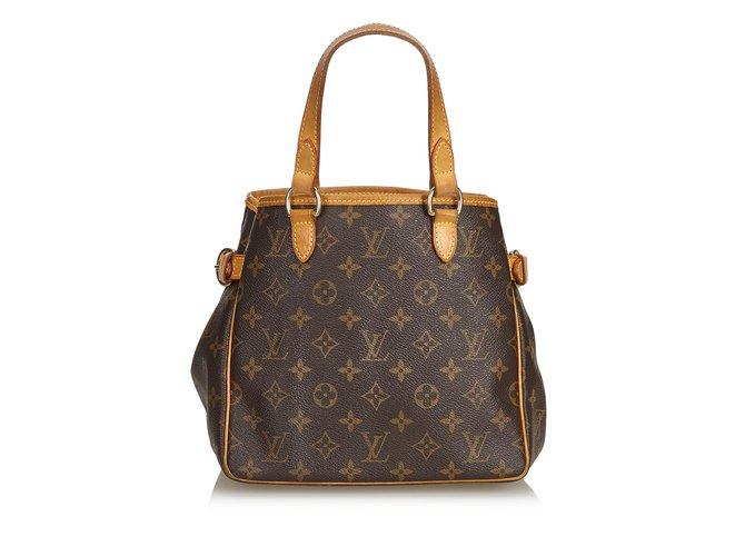 Sacs à main Louis Vuitton Monogramme Batignolles Vertical Cuir,Toile Marron ref.100964