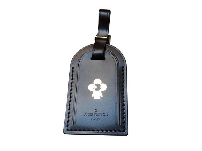 Bijoux de sac Louis Vuitton Charmes de sac Cuir Noir ref.100974