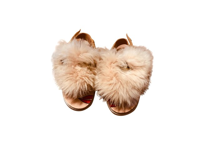 Ugg Kids Sandals Kids Sandals Fur Beige ref.100980
