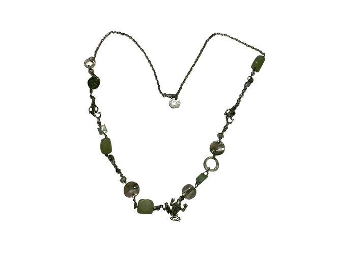 Sautoirs Aridza Bross Colliers longs Métal,Perle Multicolore,Vert ref.101055