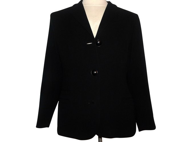 Vestes Gianni Versace Gianni Versace Couture blazer Polyester,Laine Noir ref.101072