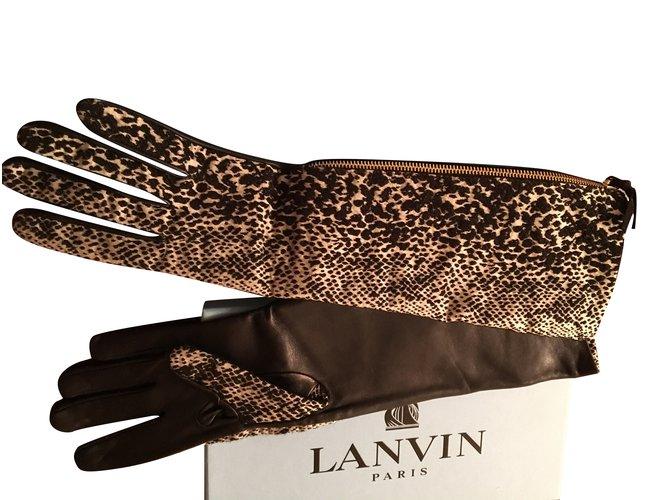 Gants Lanvin Gants Autre Multicolore ref.101085