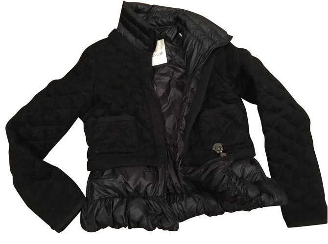 Moncler Jackets Jackets Wool Black ref.101093