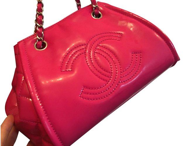 Sacs à main Chanel Sacs à main Cuir vernis Rose ref.101096