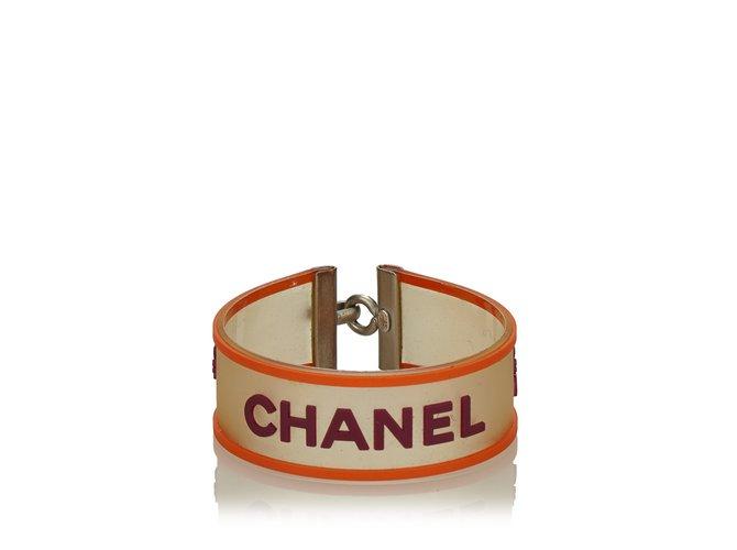 Bracelets Chanel Bracelet avec logo Autre,Métal Multicolore,Orange ref.101107