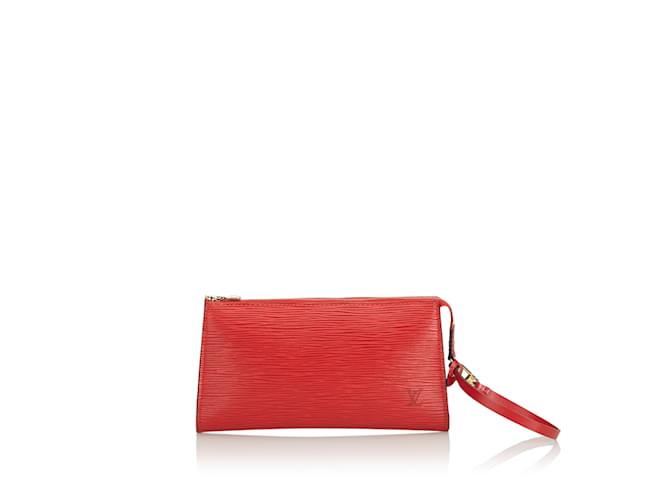 Sacs à main Louis Vuitton Epi Pochette Accessoires Cuir Rouge ref.101119