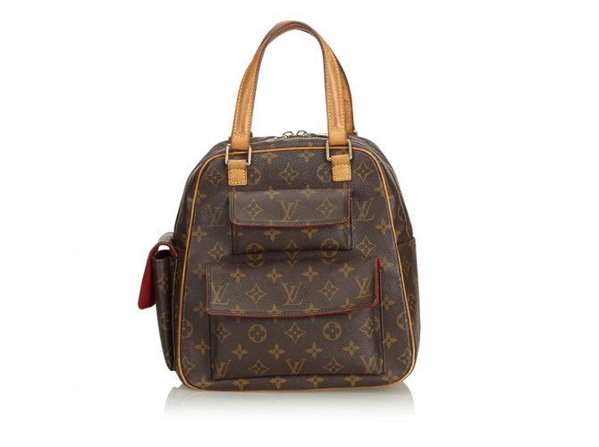 Sacs à main Louis Vuitton Monogramme Excentri-Cite Cuir,Toile Marron ref.101146