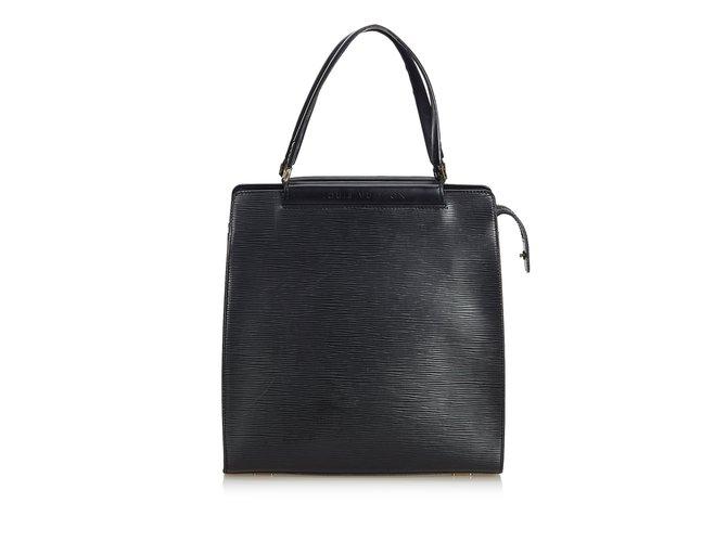 Sacs à main Louis Vuitton Epi Figheri PM Cuir Noir ref.101152