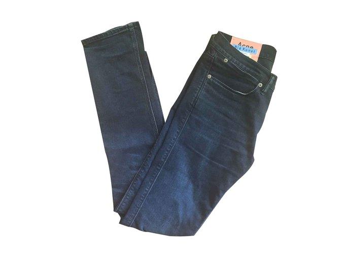 279f5564c63 Jeans homme Acne Max Blue Black Coton Noir ref.101162 - Joli Closet