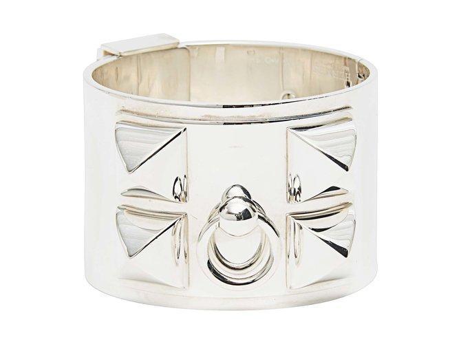 Bracelets Hermès collier de chien medor silver Argent Argenté ref.101168