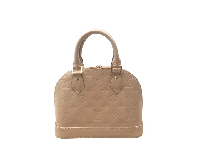 0180743bb863 Louis Vuitton Louis Vuitton bag Alma BB Dune Monogram Handbags Patent  leather Beige ref.101245