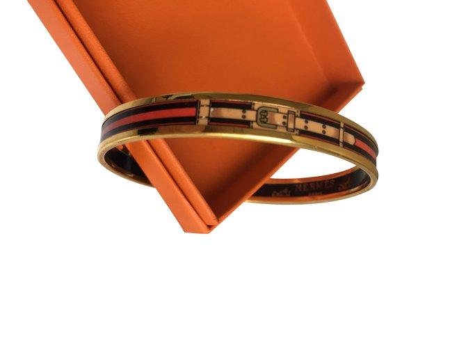 Bracelets Hermès Bracelets Métal Rouge ref.101247