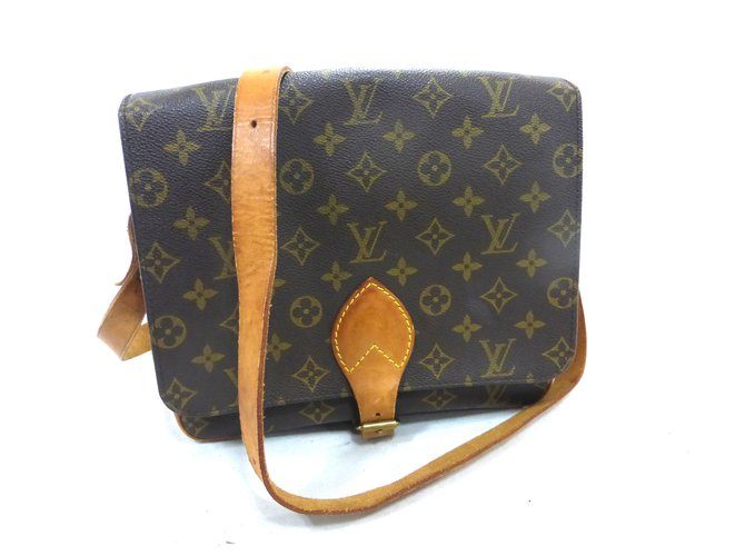 Sacs à main Louis Vuitton CARTOUCHIERE GM MONOGRAM Cuir Marron ref.101259