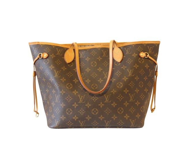 Sacs à main Louis Vuitton neverfull MM Cuir Marron ref.101267