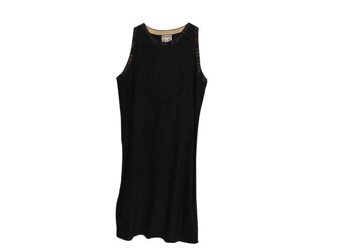 Robes Chanel Chanel Cachemire Noir ref.101286