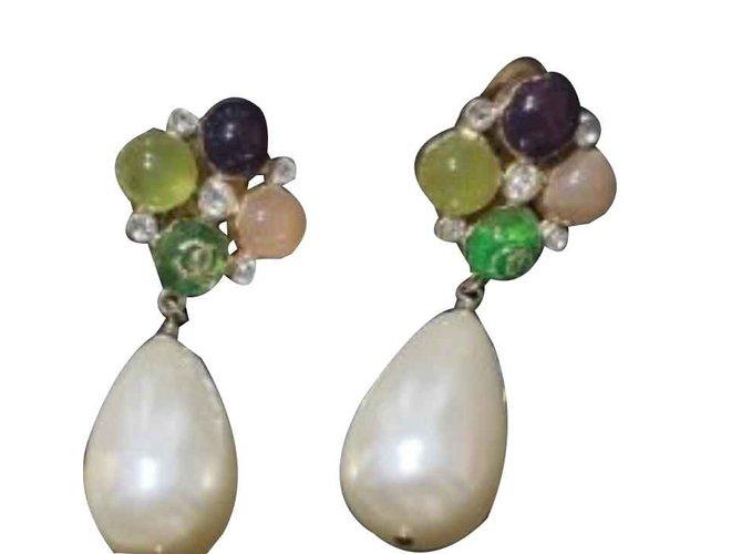 Boucles d'oreilles Chanel Chanel Métal Multicolore ref.101290