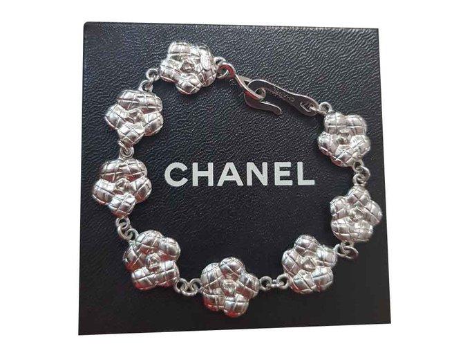 Bracelets Chanel Bracelet Chanel Métal Argenté ref.101291