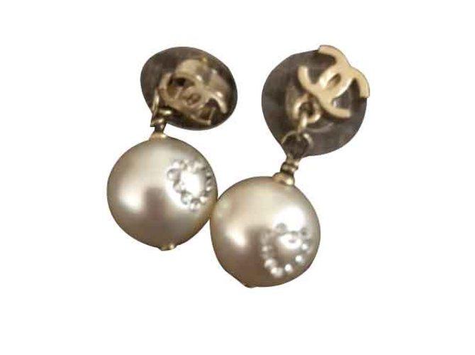 Boucles d'oreilles Chanel Boucle d oreille chanel Métal Argenté ref.101292