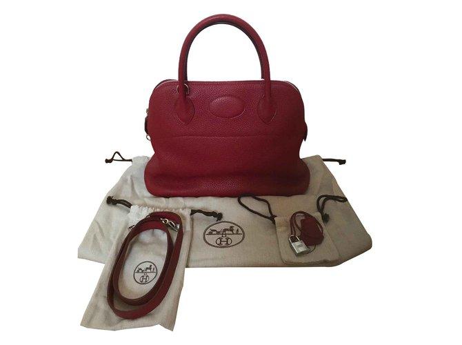 Hermès Bolide bag 31 Hermès Rouge Garance Handbags Leather Red ref.101305